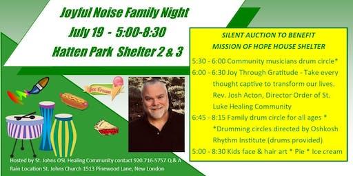 Joyful Noise Family Night & Silent Auction Mission of Hope House Shelter