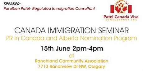 In Calgary # Canada Immigration # Options # Free Seminar# tickets