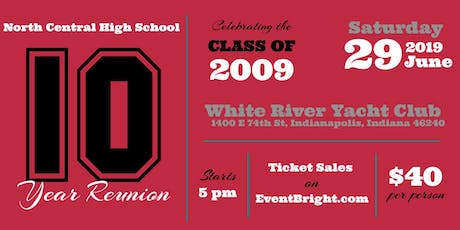 NCHS Class of 2009 10 year Reunion tickets