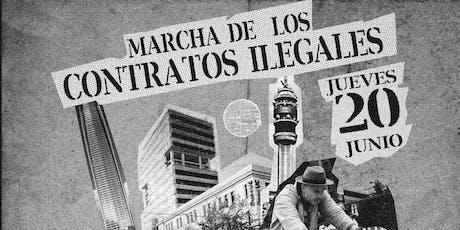 Marcha de los contratos ilegales entradas