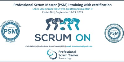 Professional Scrum Master (PSM) I - Exeter NH - September 2019