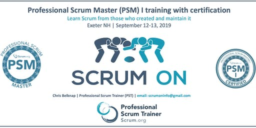 Scrum.org Professional Scrum Master (PSM) I - Exeter NH - Sep12-13 2019