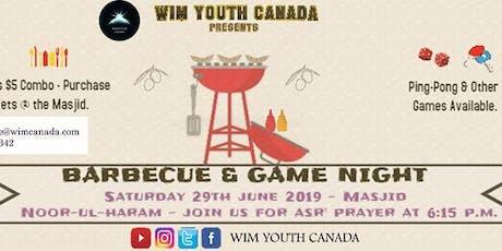 BBQ & Game Night tickets