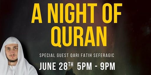 A night of Quran with Fatih Serafergic