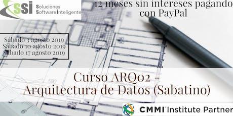 Curso sabatino ARQ02 - Arquitectura de Datos entradas