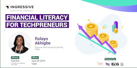 Financial Literacy for Techpreneurs tickets