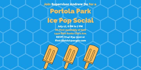 Portola Park Ice Pop Social with Supervisor Andrew Do tickets