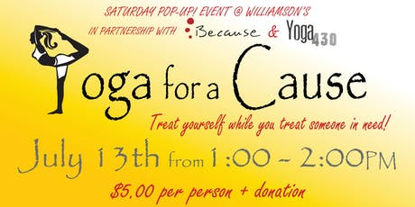 Saturday Pop Up ~ Yoga for a Cause tickets