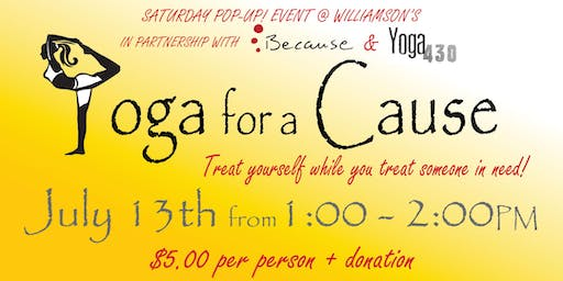 Saturday Pop Up ~ Yoga for a Cause