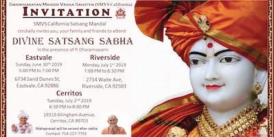 Divine Satsang Sabha(s) with Pujya Santo @ Eastvale, Riverside & Cerritos