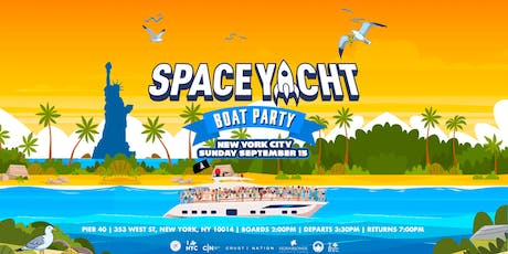 SPACE YACHT Boat Party NYC on the Hornblower INFINITY  tickets