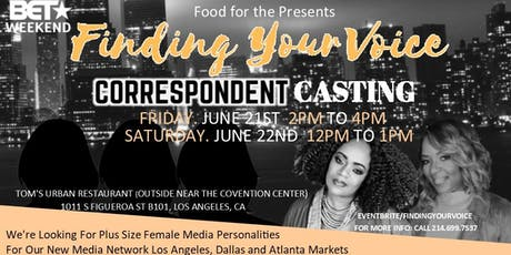 BET Weekend-Finding Your Voice Talent Casting tickets