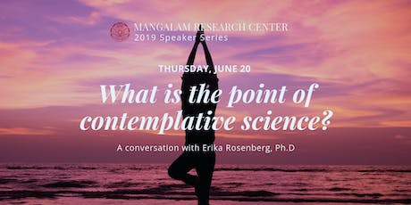 What is the point of contemplative science? tickets