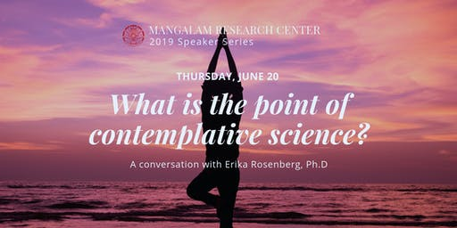 What is the point of contemplative science?