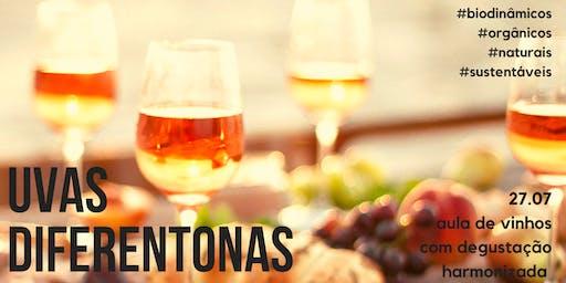 Degustação de vinhos - Uvas diferentonas (Julho)