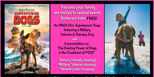 "Free Sensory friendly ""Superpower Dogs"" movie"