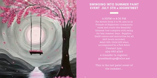 Swinging into Summer Paint Event