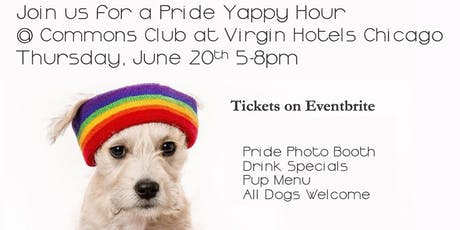 Puppies & Pride Yappy Hour at Commons Club in Virgin Hotels Chicago tickets