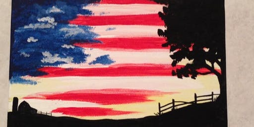 Patriotic Flag Painting Party