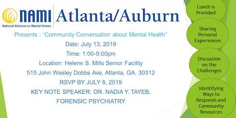"NAMI Atlanta/Auburn Presents: ""Community Conversation about Mental Health"" tickets"