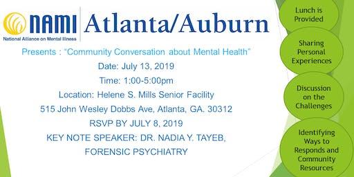 "NAMI Atlanta/Auburn Presents: ""Community Conversation about Mental Health"""