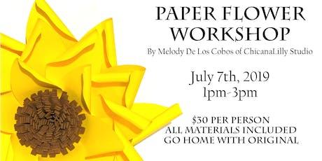 Paper Flower Workshop entradas