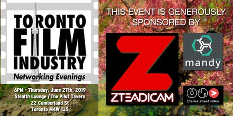 JUNE Toronto Film and TV Networking evening tickets