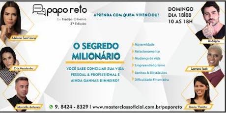 3° Papo Reto com Kadija Oliveira - Edição Especial ingressos