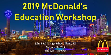 2019 麦当劳教育展 McDonald's Education Workshop tickets