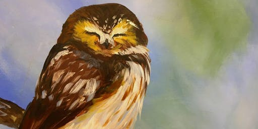 Baby Owl - Tipsy Brush at Short Branch Saloon