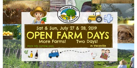 PVAA Open Farm Days in Vacaville - July 27 & 28 tickets