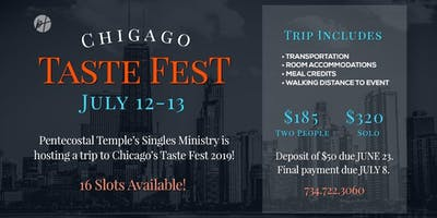 PT Single Ministry - Road Trip Chicago Taste Fest 2019