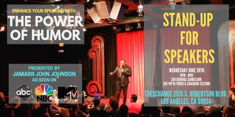 Stand-Up for Speakers - Enhance your speaking with the power of humor tickets