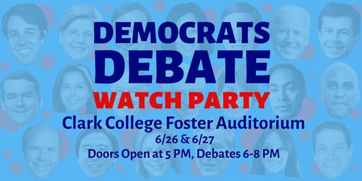 Democrats Debate Watch Party 6/26 & 6/27