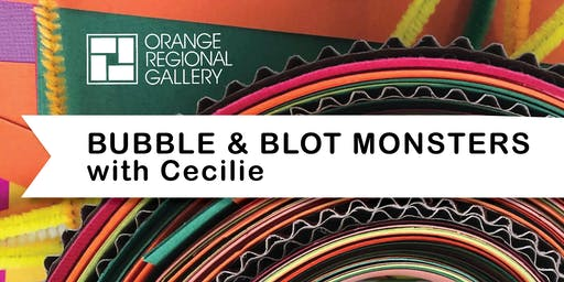 SCHOOL HOLIDAY WORKSHOP - Bubble & Blot Monsters with Cecilie