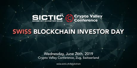 Swiss Blockchain Investor Day 2019 tickets