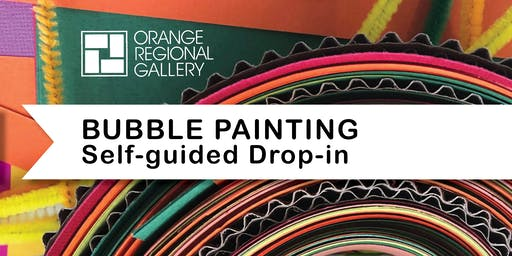 SCHOOL HOLIDAY WORKSHOP - Drop-in, Bubble Painting with Cecilie