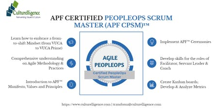 Agile PeopleOps Framework Certified PeopleOps Scrum Master (APF CPSM)™| August 17-18, 2019 | Colombo tickets