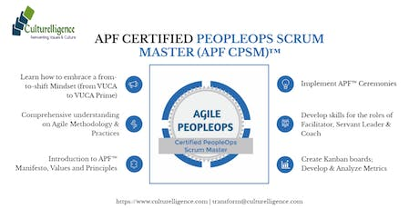 Agile PeopleOps Framework Certified PeopleOps Scrum Master (APF CPSM)™| August 30-31, 2019 tickets