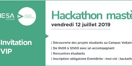 Invitation Hackathon mastères 1 billets