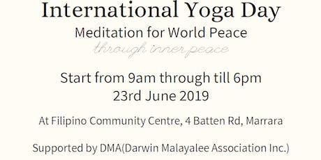 International Yoga Day - Meditation for World Peace through inner peace. tickets