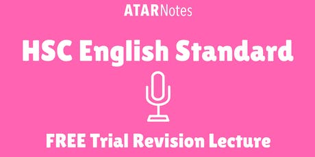 English Standard - FREE Trial Revision Lecture tickets