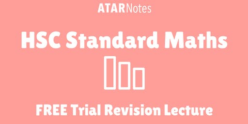 [Sold Out] Standard Maths - FREE Trial Revision Lecture