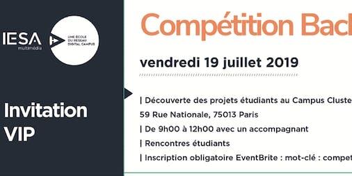 Invitation présentation compétition bachelor 3ème année IESA multimédia