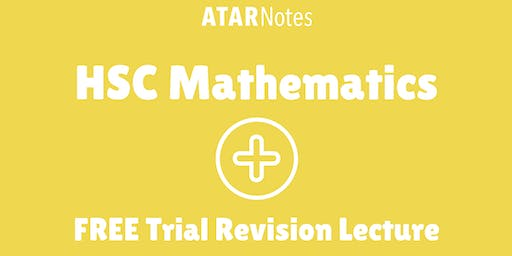 [Sold Out] Mathematics - FREE Trial Revision Lecture