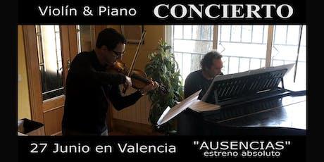 Concierto violín y piano entradas