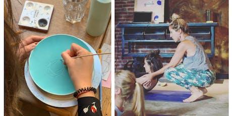 Ceramic & Yoga : Atelier de peinture sur céramique et cours de yoga à L'Atelier Geneviève billets