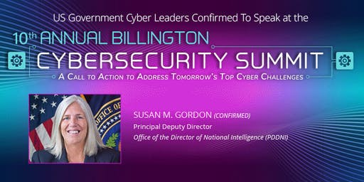 10th Annual Billington CyberSecurity Summit, September 4-5, 2019