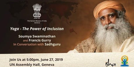 Sadhguru at the United Nations Geneva billets