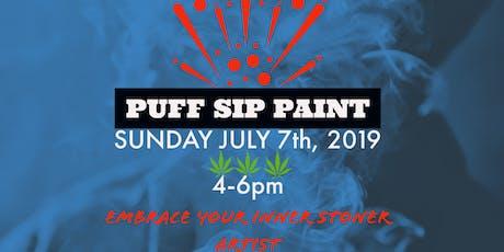 Puff Sip & Paint tickets
